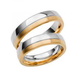 Schalins Förlovningsring Color Of Love SR3007 18K Guld/Vitguld  - TeBoon.se