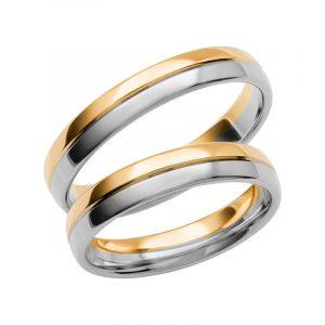 Schalins Förlovningsring Color Of Love SR3010 18K Guld/Vitguld  - TeBoon.se
