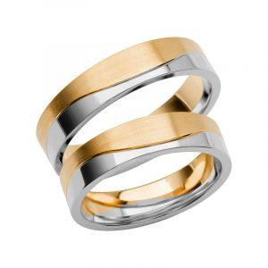 Schalins Förlovningsring Color Of Love SR3011 18K Guld/Vitguld  - TeBoon.se
