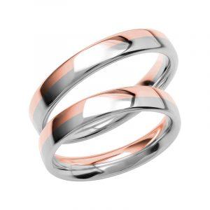 Schalins Förlovningsring Color Of Love SR3017 18K Roséguld/Vitguld  - TeBoon.se