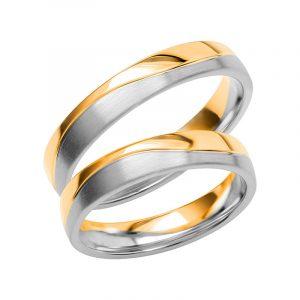 Schalins Förlovningsring Color Of Love SR3018 18K Guld/Vitguld  - TeBoon.se