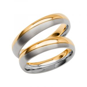 Schalins Förlovningsring Color Of Love SR3023 18K Guld/Vitguld  - TeBoon.se