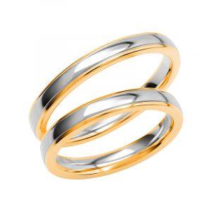 Schalins Förlovningsring Color Of Love SR3025 18K Guld/Vitguld  - TeBoon.se