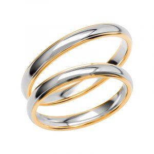 Schalins Förlovningsring Color Of Love SR3027 18K Guld/Vitguld  - TeBoon.se