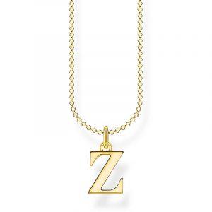 Bokstavshalsband Guld - Z från Thomas Sabo