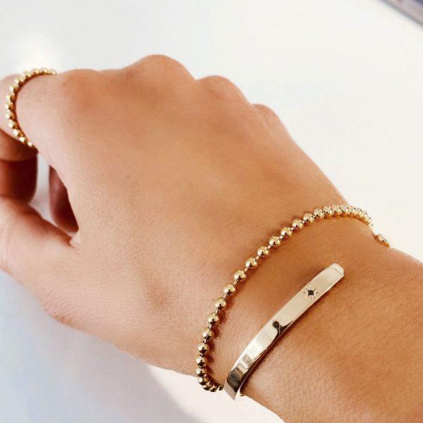 Globe Bracelet Gold från Emma Israelsson, fri frakt på TeBoon.se