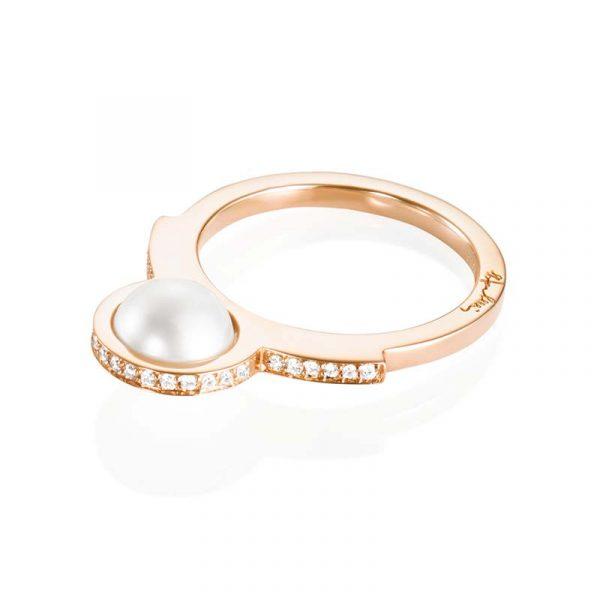 Day Pearl & Stars Ring Guld från Efva Attling