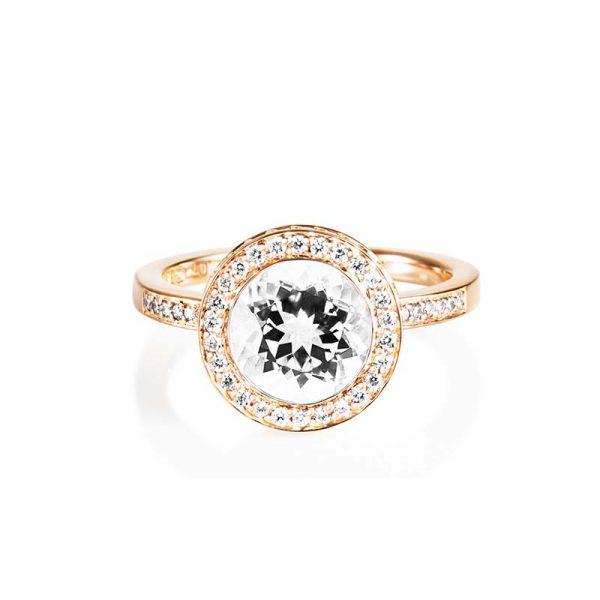 Halo Ring – Crystal Quartz Guld från Efva Attling