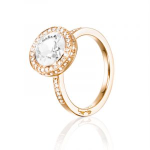 Halo Ring – Crystal Quartz Guld från Efva Attling
