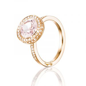 Halo Ring - Morganite Guld från Efva Attling