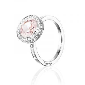 Halo Ring - Morganite Vitguld från Efva Attling