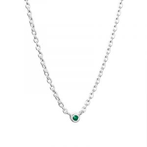 Micro Blink Necklace - Green Emerald från Efva Attling
