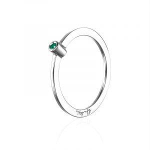 Micro Blink Ring - Green Emerald från Efva Attling