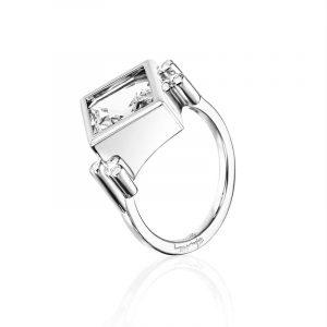 Shiny Memory Ring – Crystal Quartz från Efva Attling