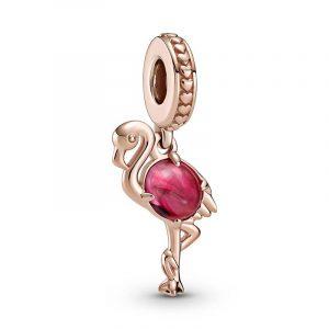 Flamingo i Rosa Muranoglas Berlock från PANDORA