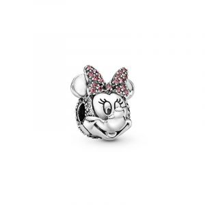 Disney Mimmi Pigg Rosa Pavé Rosett Klämstopp från PANDORA