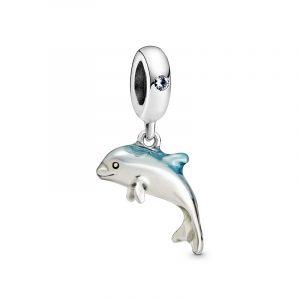Skimrande Delfin Hängberlock från PANDORA