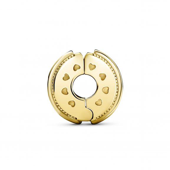 Glittrande Cliperlock med Logotyp från PANDORA
